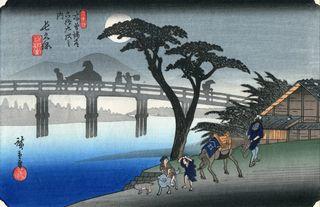 Hiroshige und Eisen 69 Stations of Kisokaido Nr 28 Nagakubo-shuku