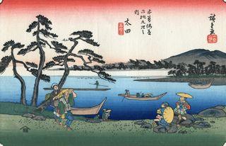 Hiroshige und Eisen 69 Stations of Kisokaido Nr 52 Ota-juku
