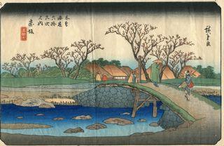 Hiroshige und Eisen 69 Stations of Kisokaido Nr 57 Akasaka