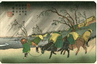 Hiroshige und Eisen 69 Stations of Kisokaido Nr 20 Kutsukake